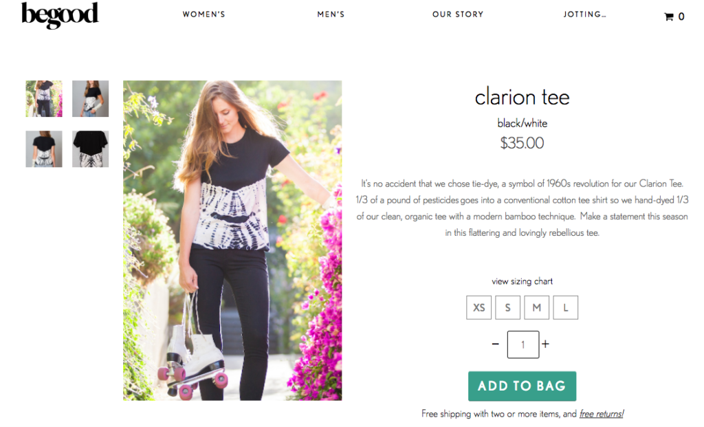 create an online store hero product