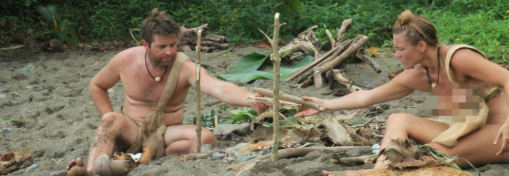 Naked boys in the woods