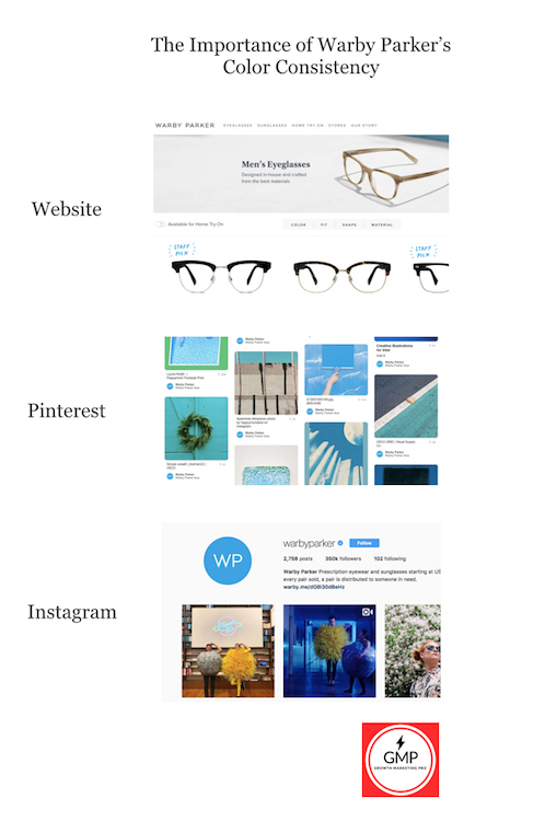 warby parker color scheme