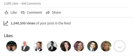 Viral linkedin post