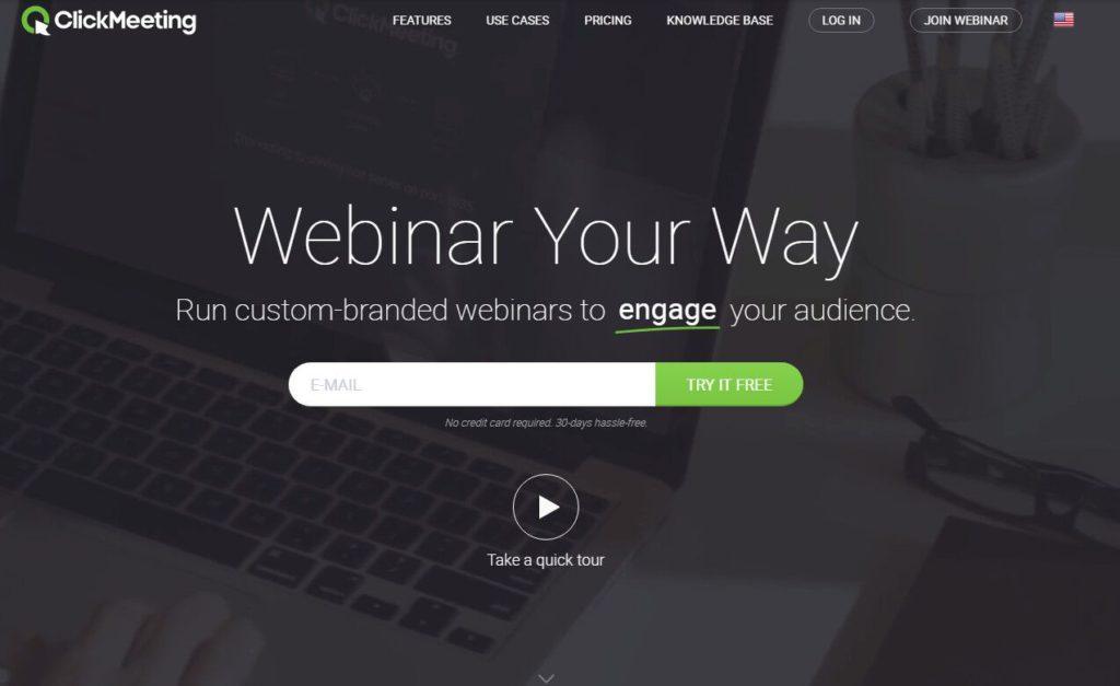 clickmeeting webinar software