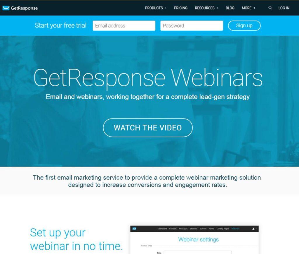 getresponse webinar software