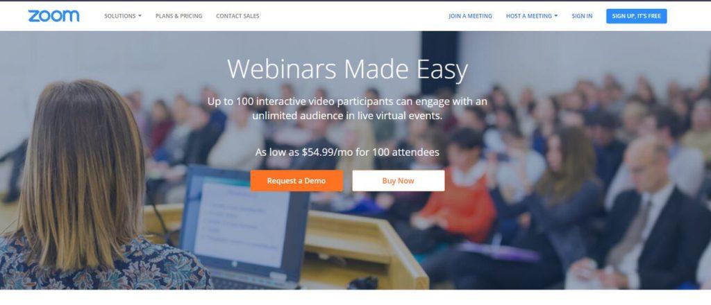 zoom webinar software