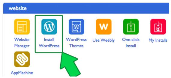 create a wordpress blog through bluehost