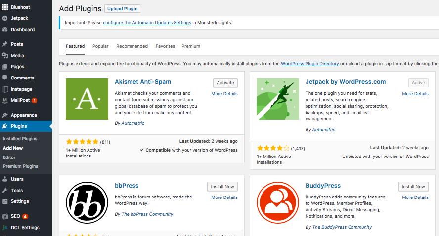 starting a wordpress blog plugins