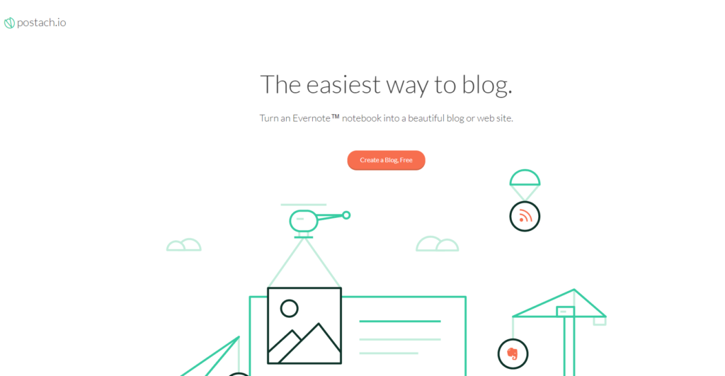 postach blogging platform