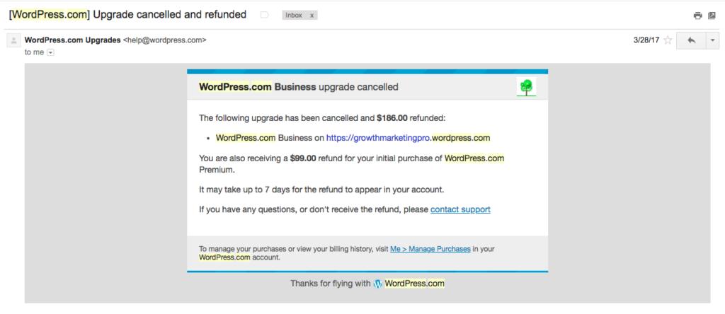 wordpress.com billing