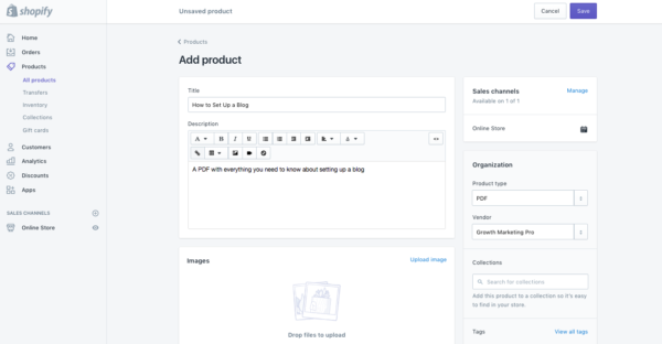 shopify review and setup step 4
