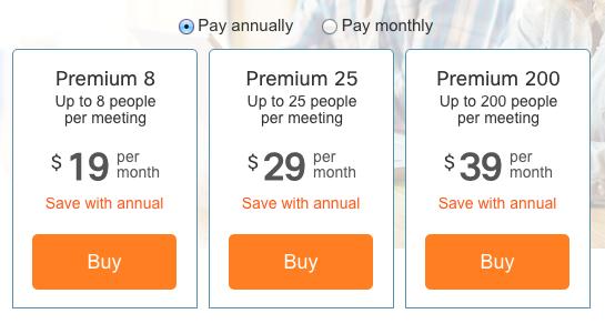 Webex webinar pricing
