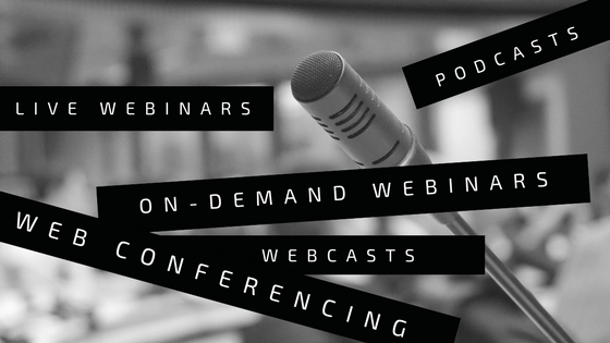 Live Webinar vs On-Demand Webinar vs Webcast vs Web Conference vs Podcast