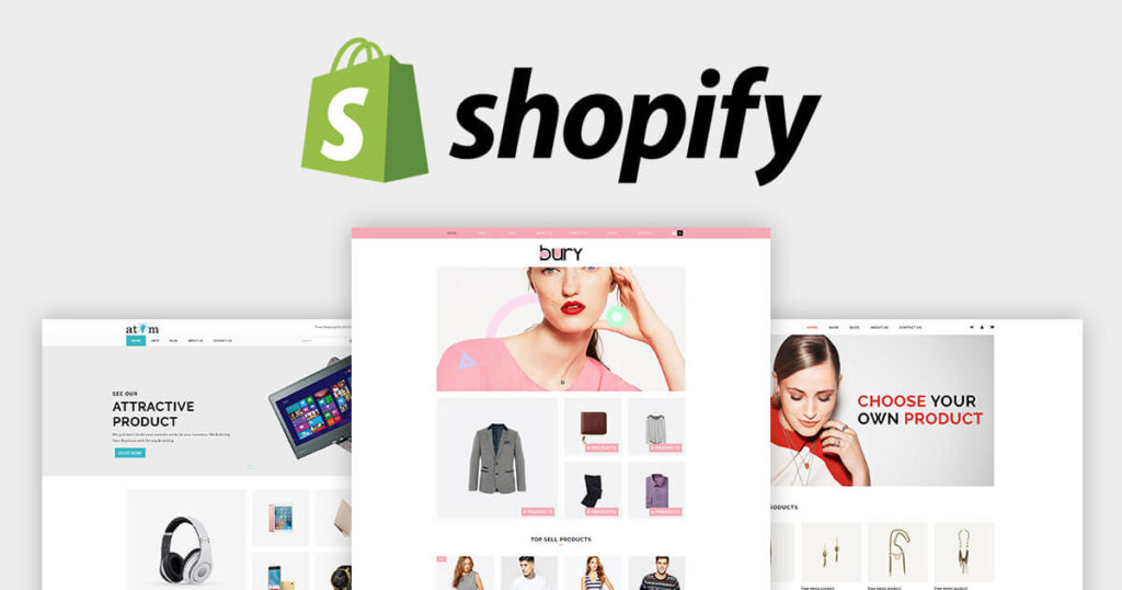 shopify template designing a store