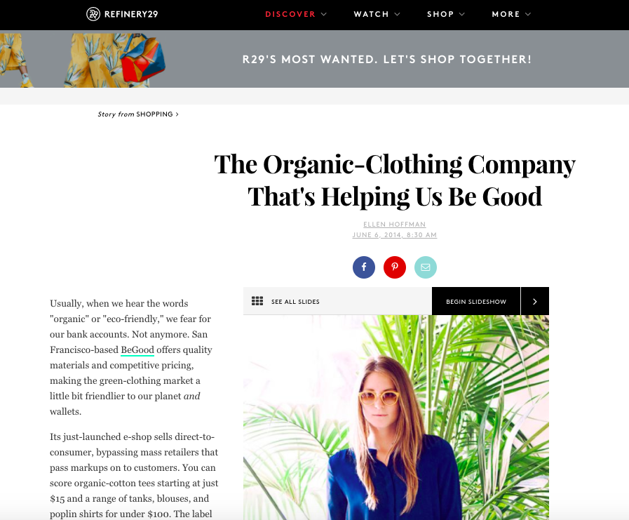 starting an online store and getting press