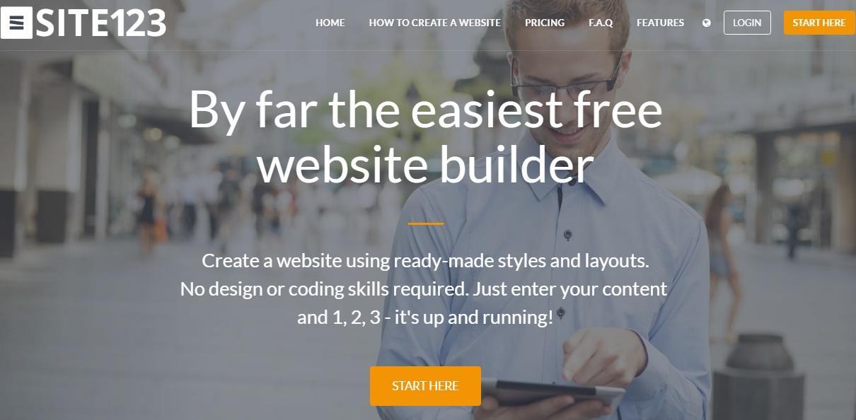 site123 website builder review