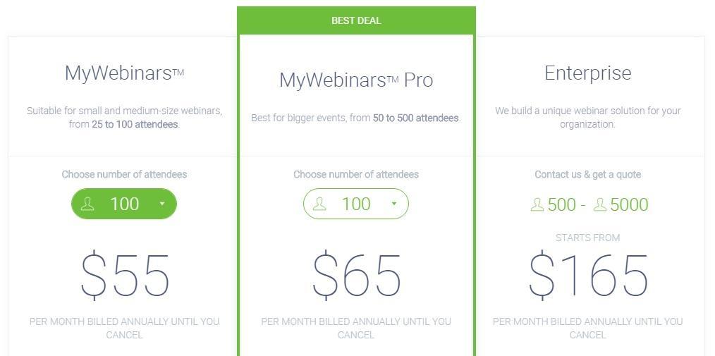 clickmeeting pricing