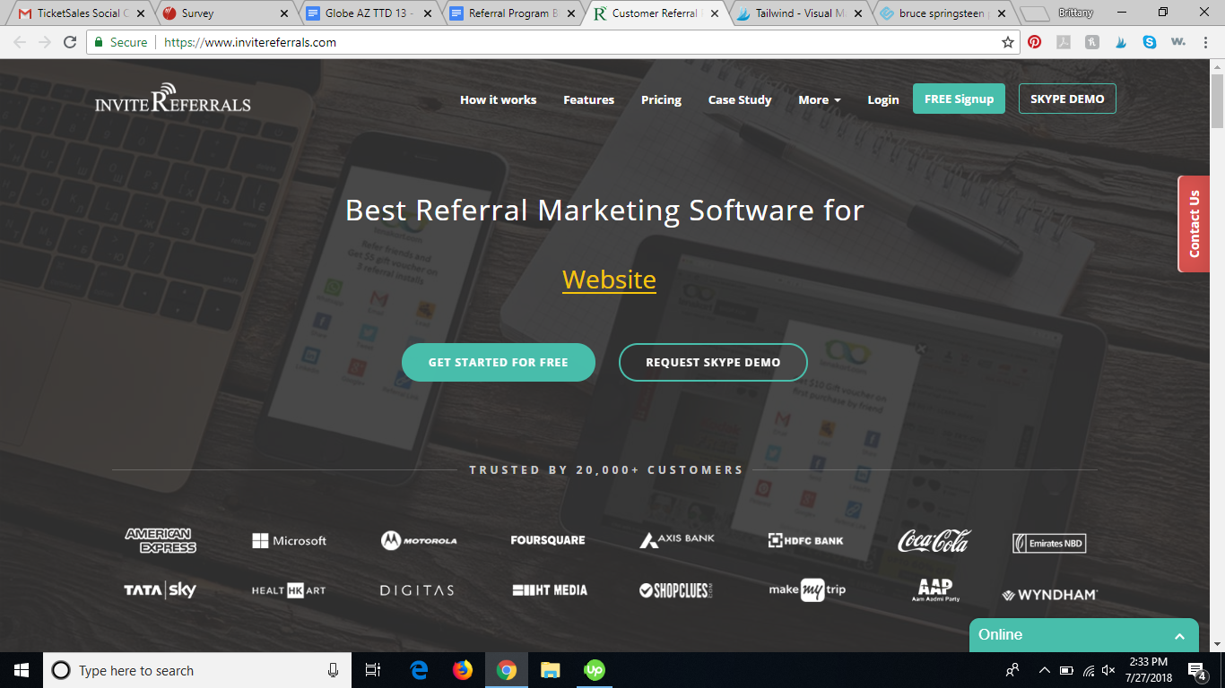 invitereferrals referral program software review