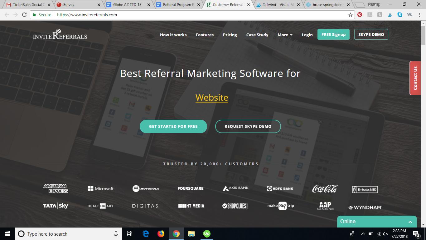 invitereferrals referral program software review