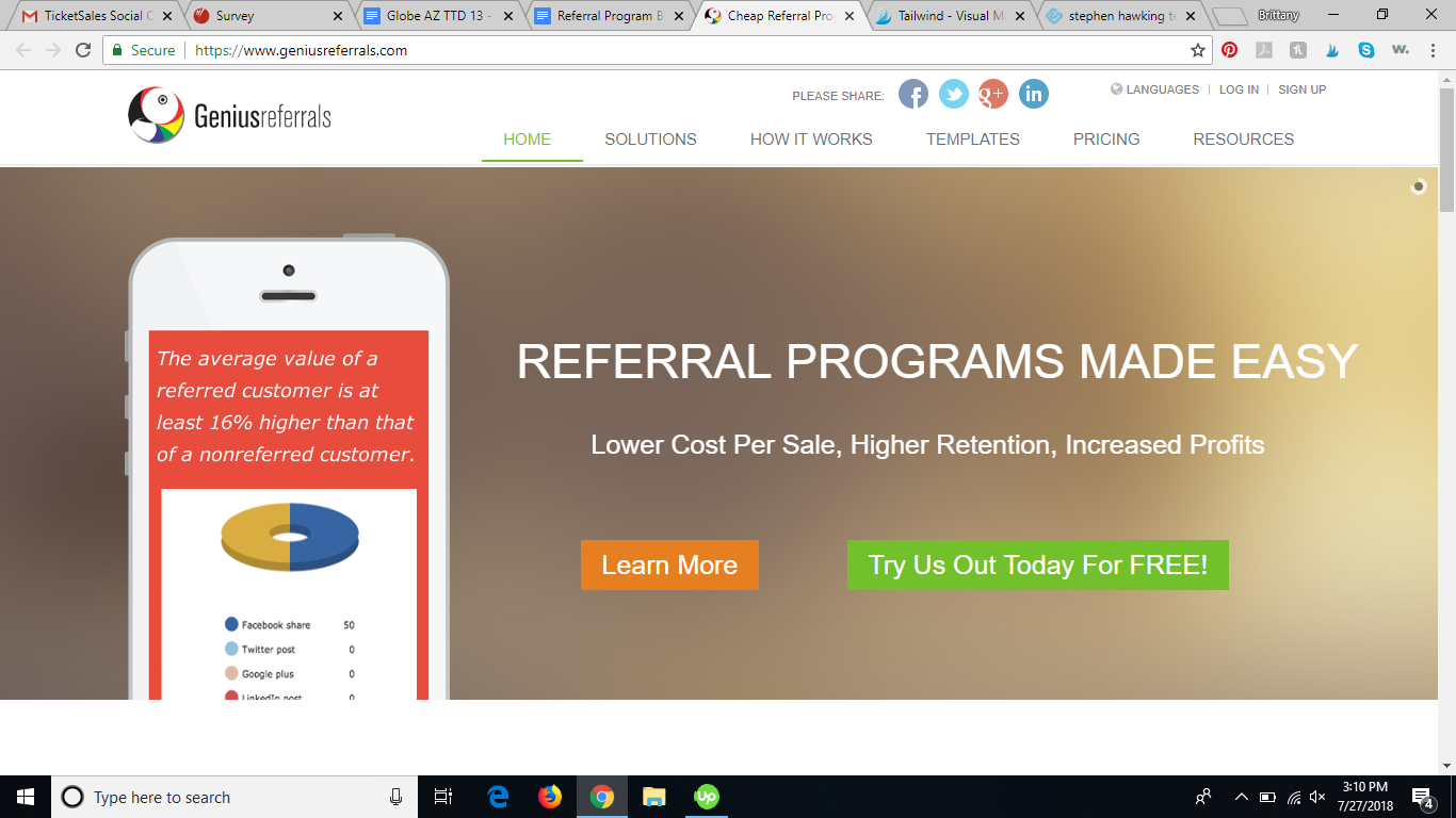 geniusreferrals referral program software review
