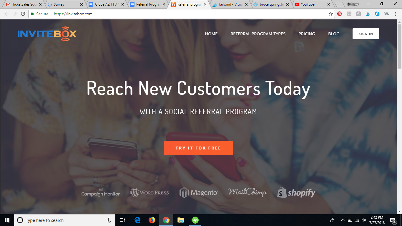 invitebox referral program software review