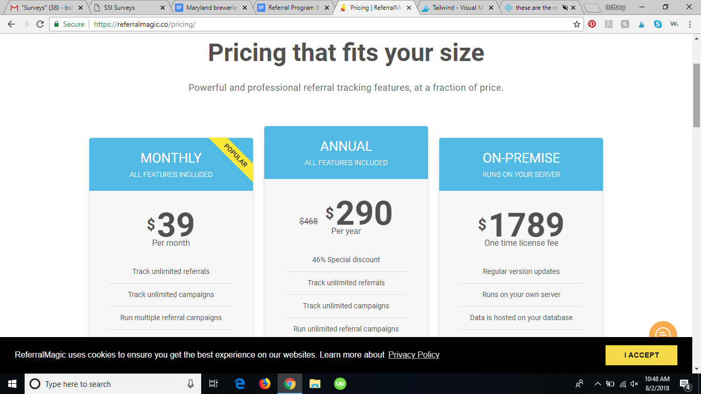 referral magic referral program software pricing