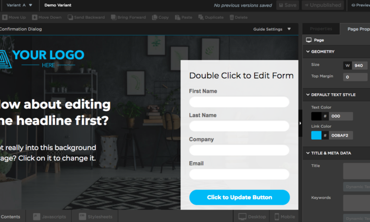 unbounce review and pricing