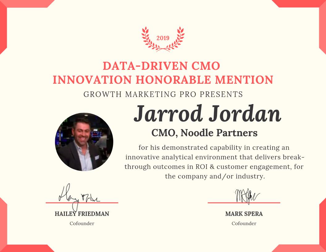 data-driven cmo innovation award