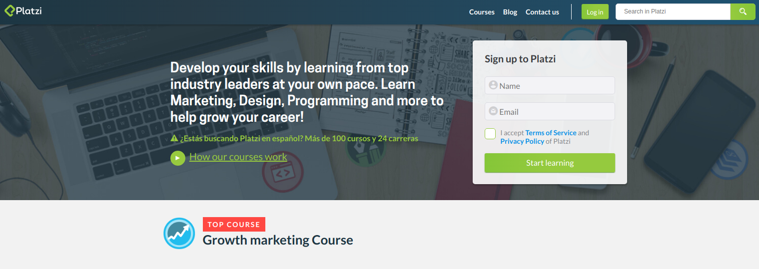 platzi Online Digital Marketing Course