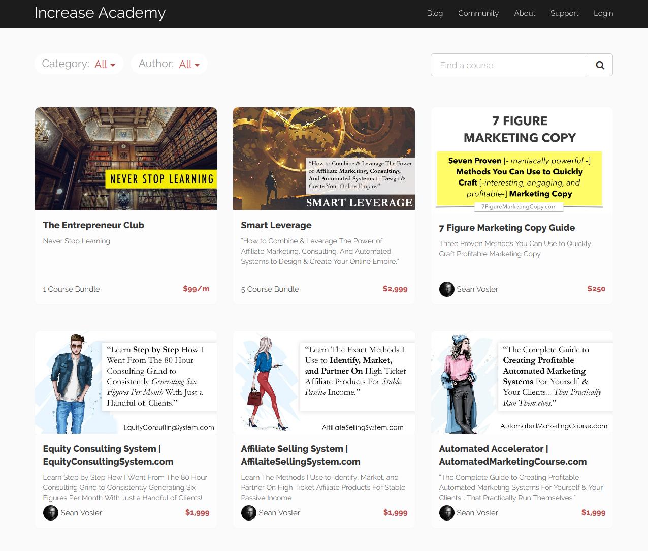 sean vosler increase academy Online Digital Marketing Course