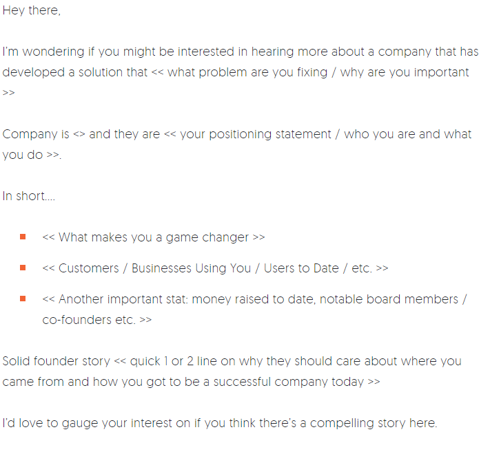 An email template by Neil Patel