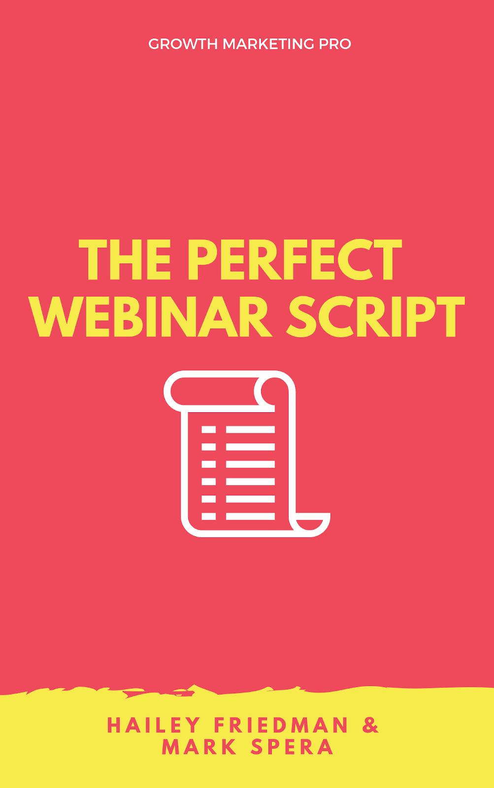 perfect webinar script template