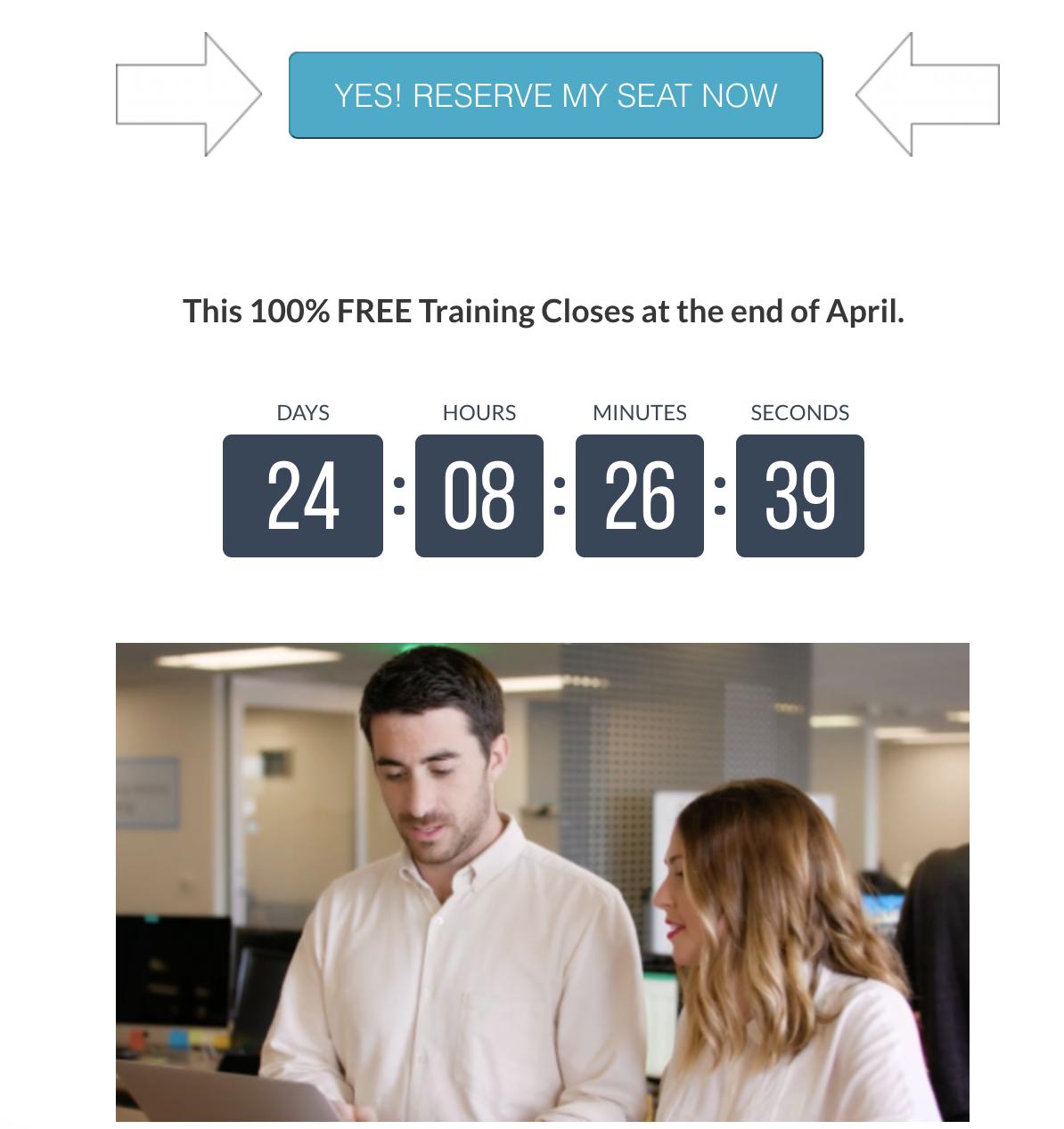 sales create urgency countdown