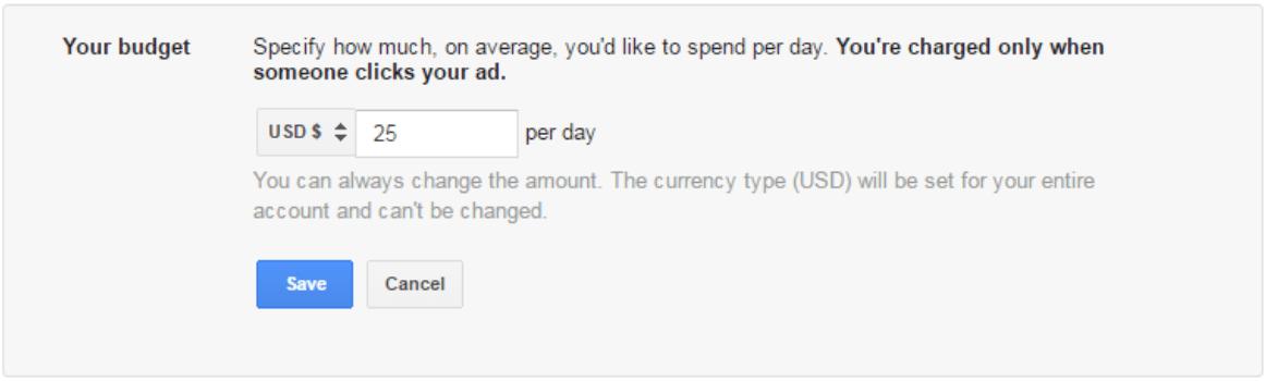 Google Ad Budget