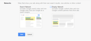 search network google ads
