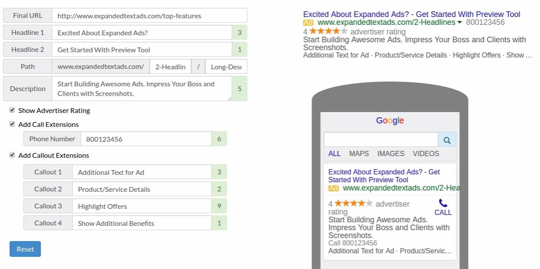 google ad copy