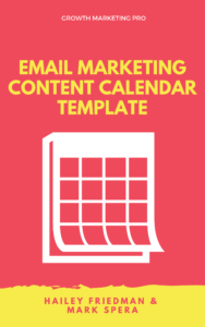 Email marketing content calendar template
