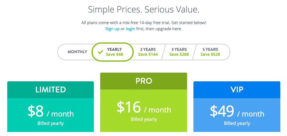 strikingly pricing