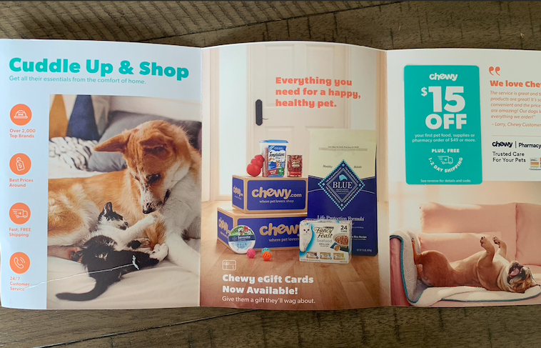 chewy direct mail campaign