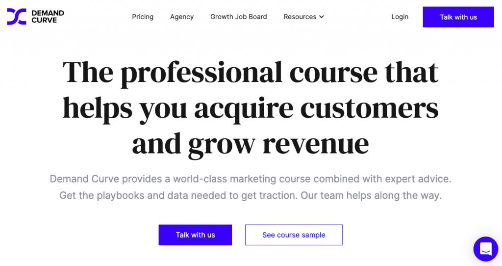 demand curve homepage